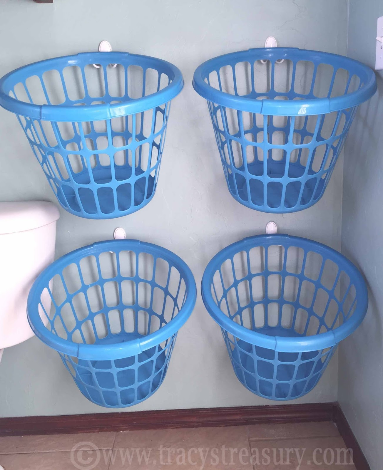 Tracy's Treasury: DIY Laundry Sorter Baskets