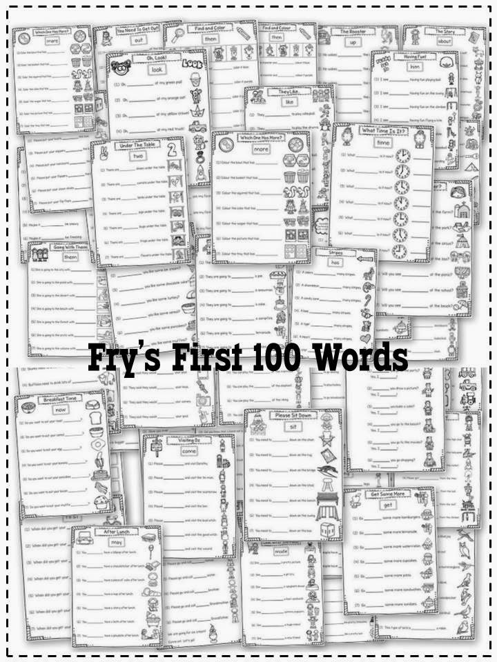http://www.teacherspayteachers.com/Product/Daily-Sight-Words-Frys-First-100-Words-With-Picture-Support-286265