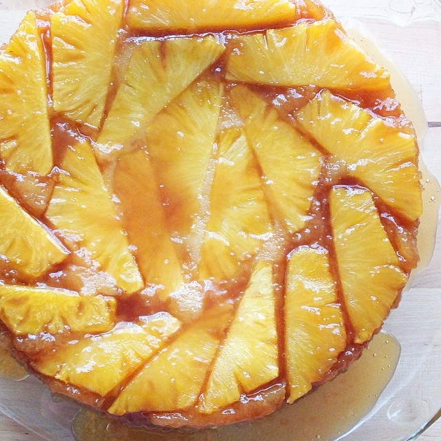 Fresh Pineapple Upside Down Cake (traditional and GF recipes) by Barefeet In The Kitchen