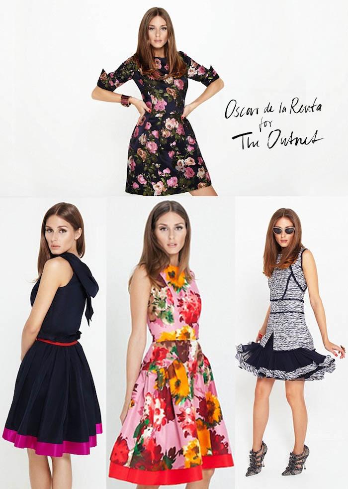 OSCAR DE LA RENTA + OLIVIA PALERMO_it girl_vestidos florais_loja online_venda online_entrega no brasil_grifes internacionais