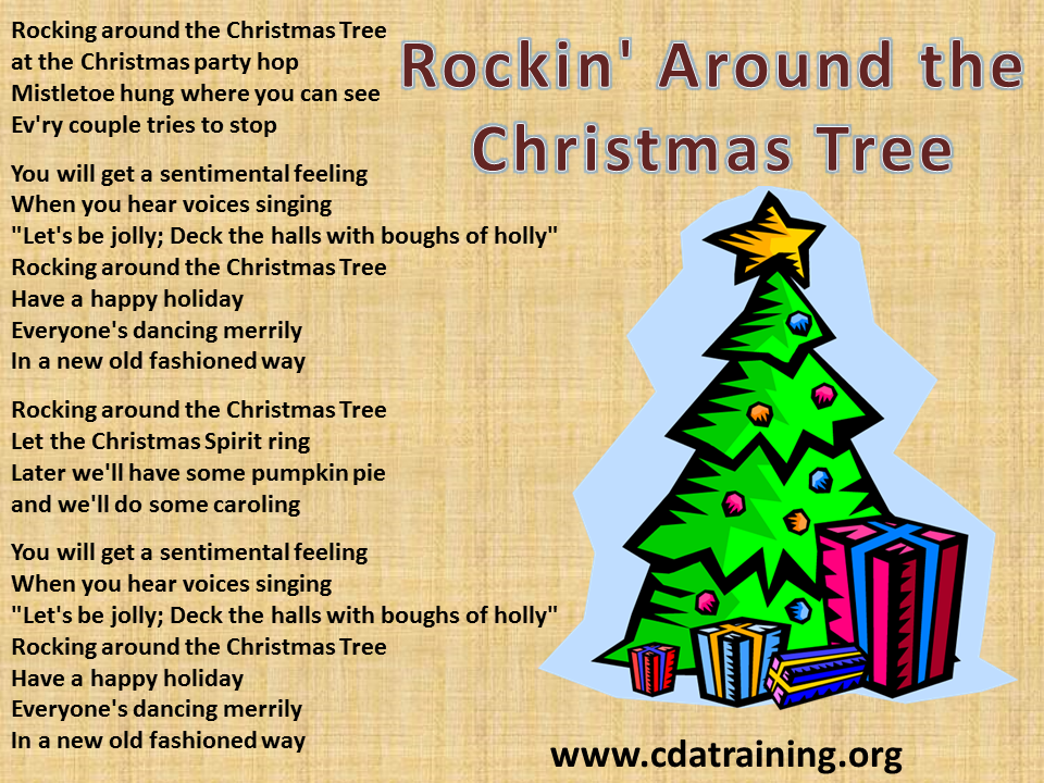 Rockin' Around the Christmas Tree - Child Care Basics Resource Blog: Rockin' Around The Christmas Tree