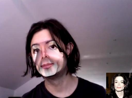 Usar la cara de otra persona en la webcam