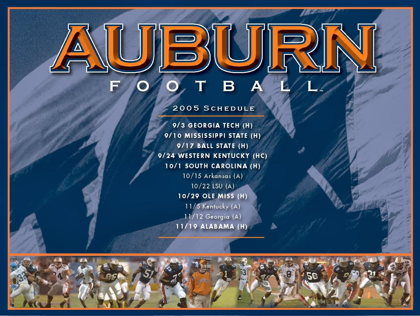 Auburn Football Schedule 2014