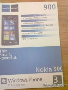 Nokia 900 windows phone