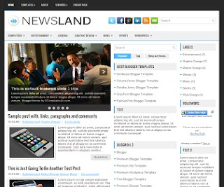 NewsLand Blogger Template