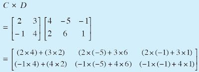 Hasil perkalian dari B × C