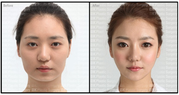 How to make up natural face asian