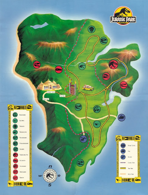 Map of Jurassic Park
