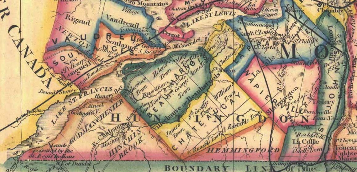 Climbing My Family Tree: Map of Beauharnois Township in Canada East