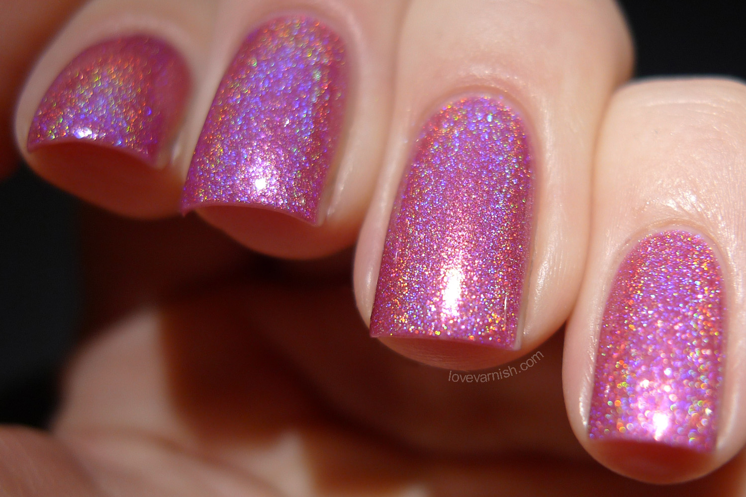 Cirque Heritage Powwow electric pink holographic polish