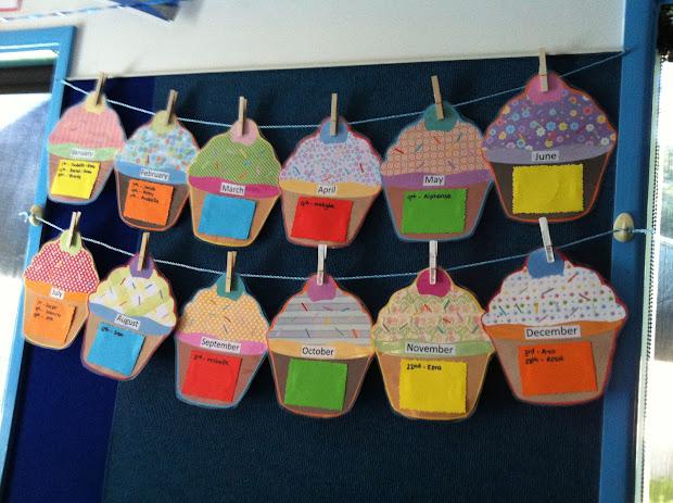 Calendar Birthday Cupcake Ideas