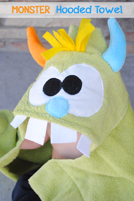 how to sew monster towel
