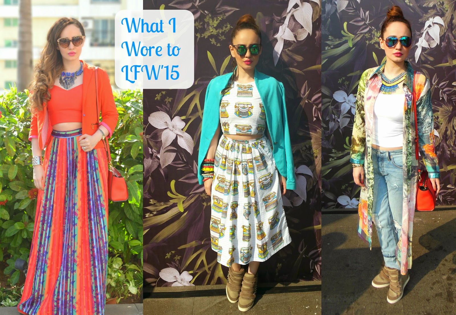 Stephanie Timmins outfits at Lakme Fashion Week Summer Resort 2015