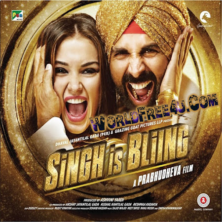 Poster Of Bollywood Movie Singh Is Bling (2015) 135MB Compressed Small Size Mobile Movie Free Download worldfree4u.com