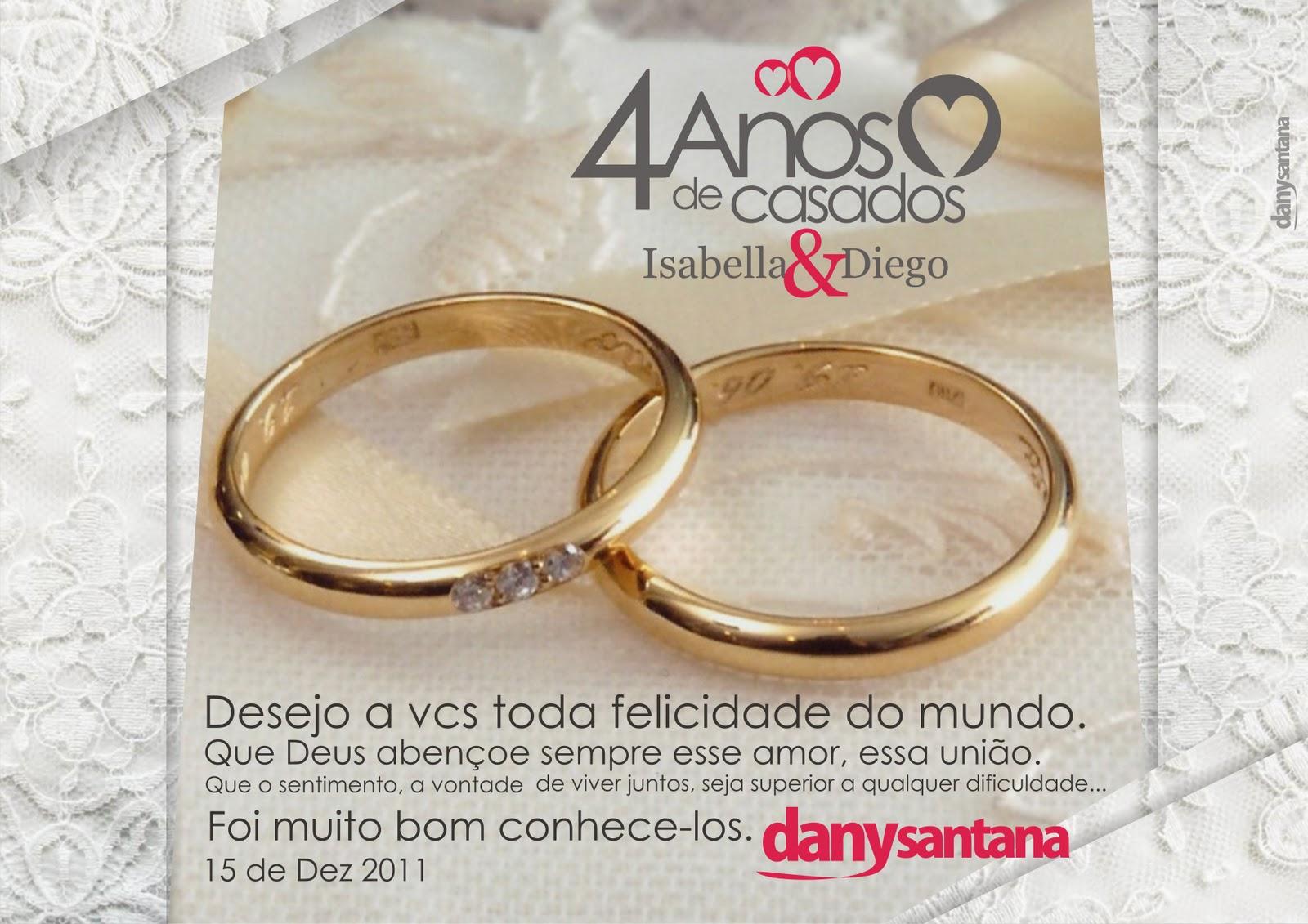 Dany Santana 4 Anos De Casados Izabella Diego Cartão Em