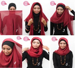 Tips Cara Memakai Jilbab Segi Empat