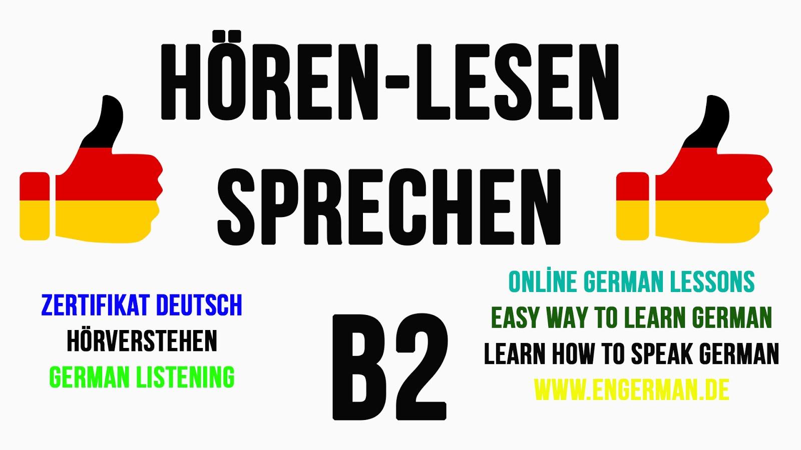 B2 Deutsch lernen