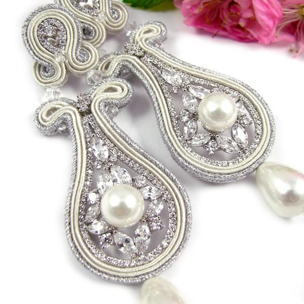 Ekskluzywne kolczyki ślubne sutasz z kryształami Novia Blanca