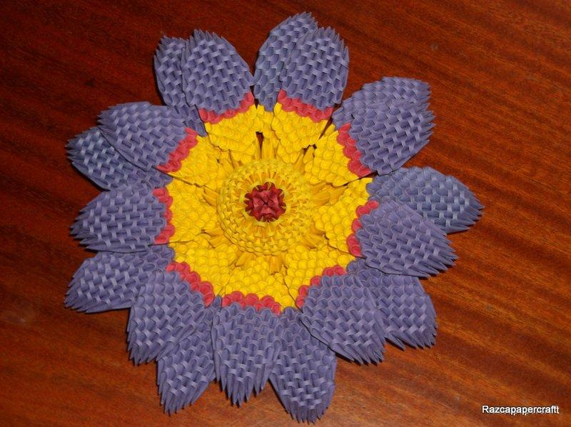 razcapapercraft 3d origami lotus flower