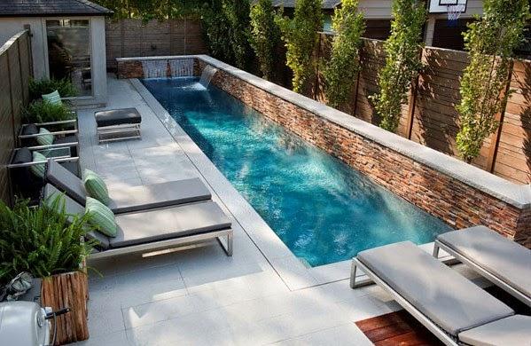 Ideas de peque as piscinas colores en casa Piscinas alargadas y estrechas