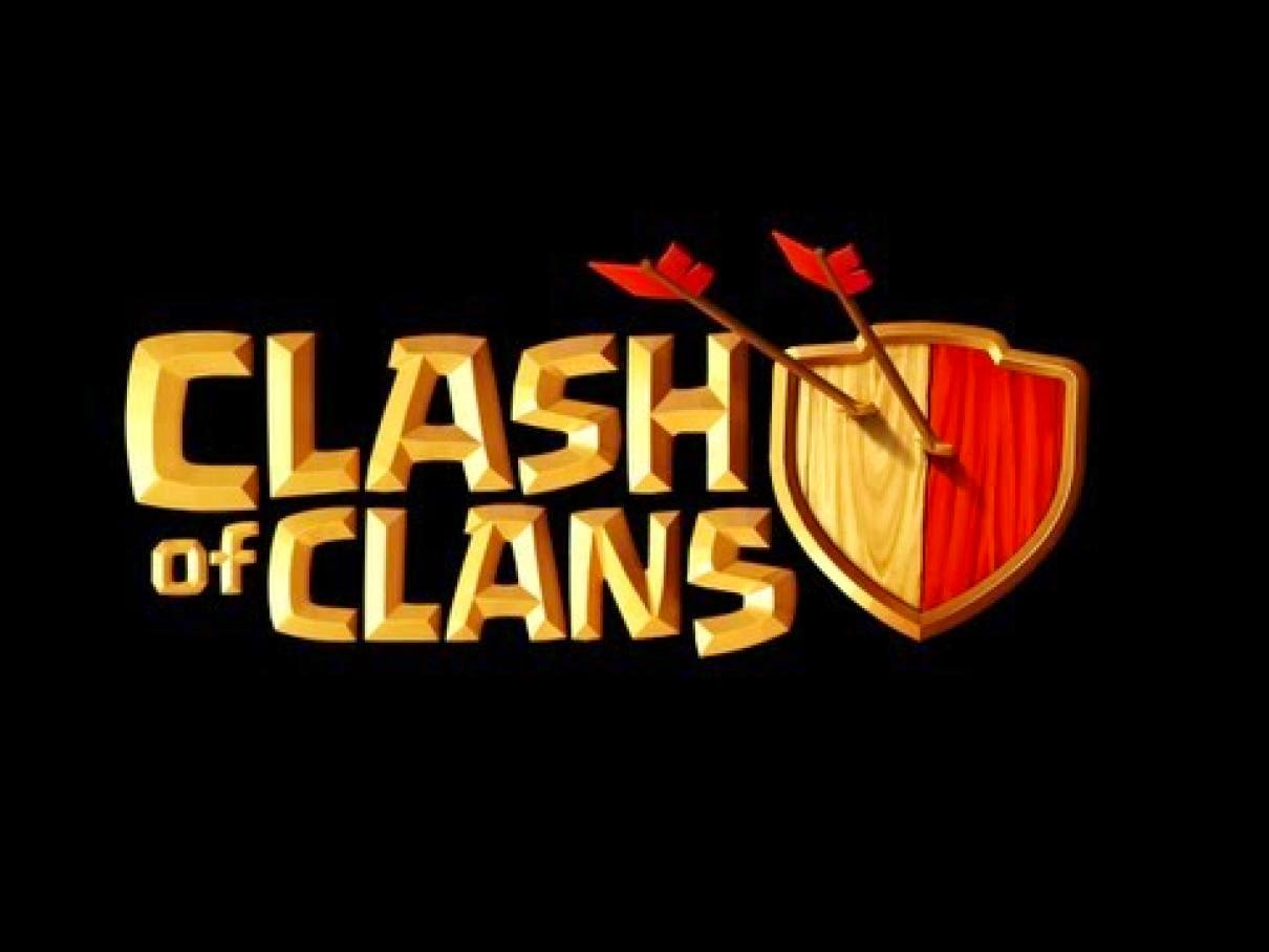 Clash of Clans Logo Black Background Wallpaper
