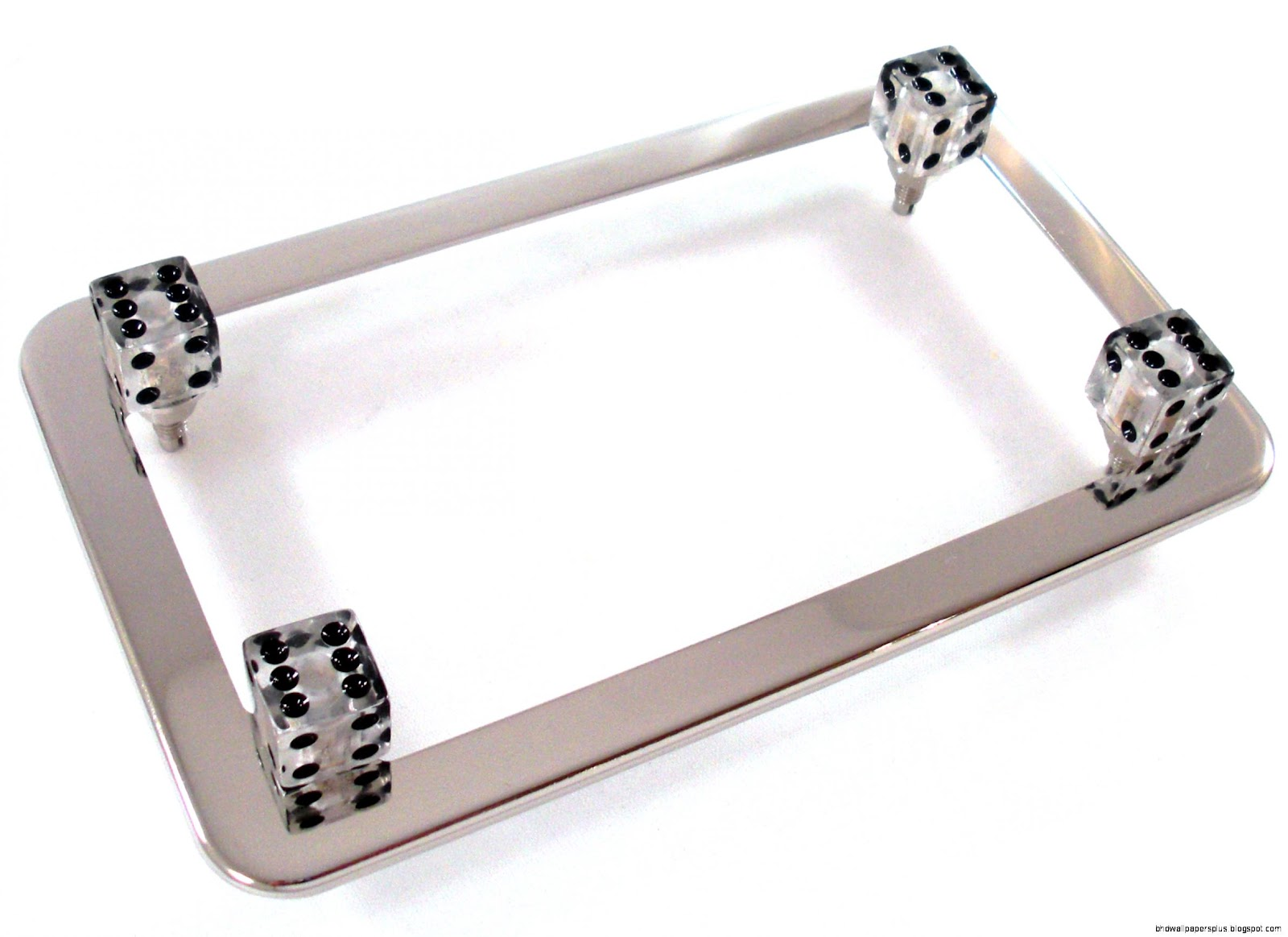 Chrome Motorcycle License Frame