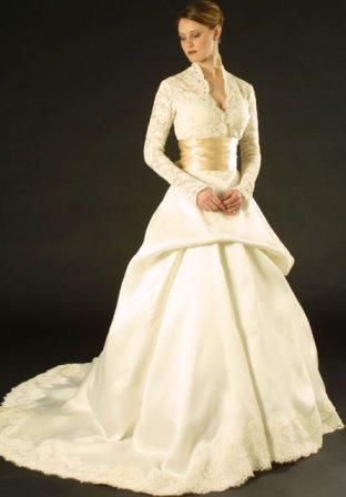 TODA MUJER ES BELLA: Vestidos de novia con mangas. FOTOS