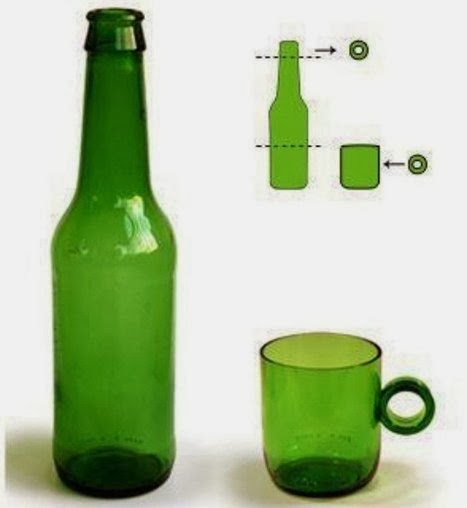 """""""CUT'N PASTE"""", cup from the bottle"""