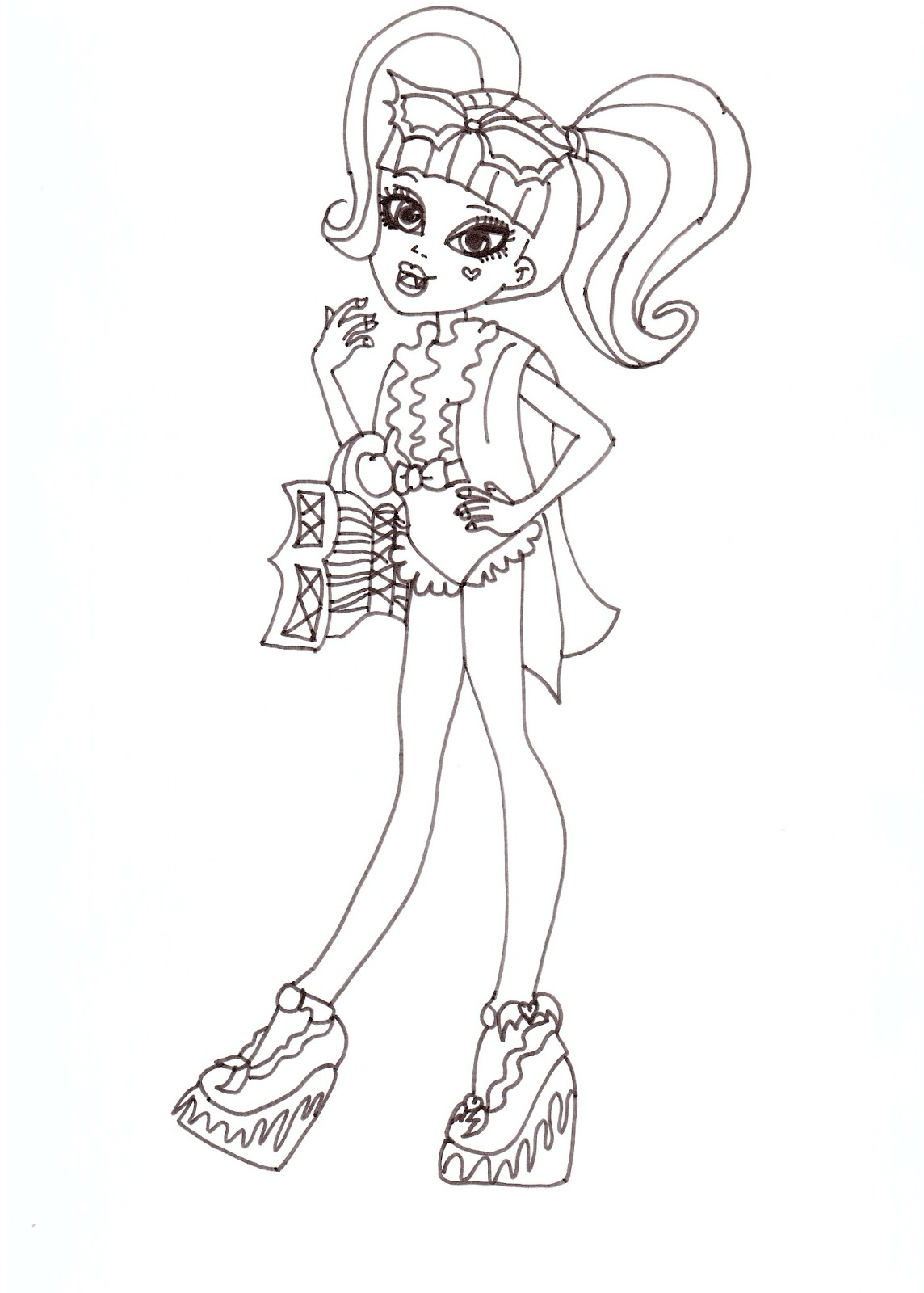 Draculaura Swim Class Coloring Sheet CLICK HERE TO PRINT Free Printable Monster High