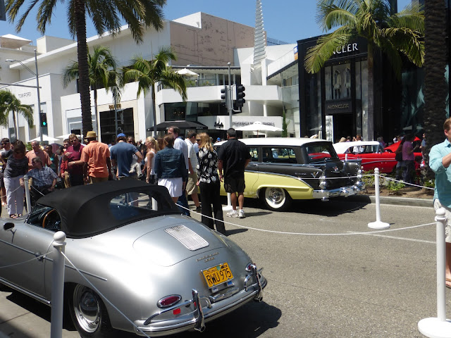 Fancy Cars among Fancy Shops in Beverly Hills Concours d'Elegance Event 2013