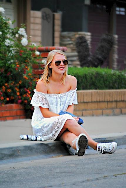 Current Habits Little White Dress