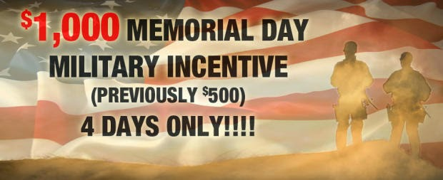 $1000 Memorial Day Military Incentive | Larry H. Miller Hyundai Peoria