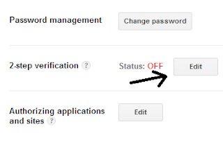 Security setting of google account
