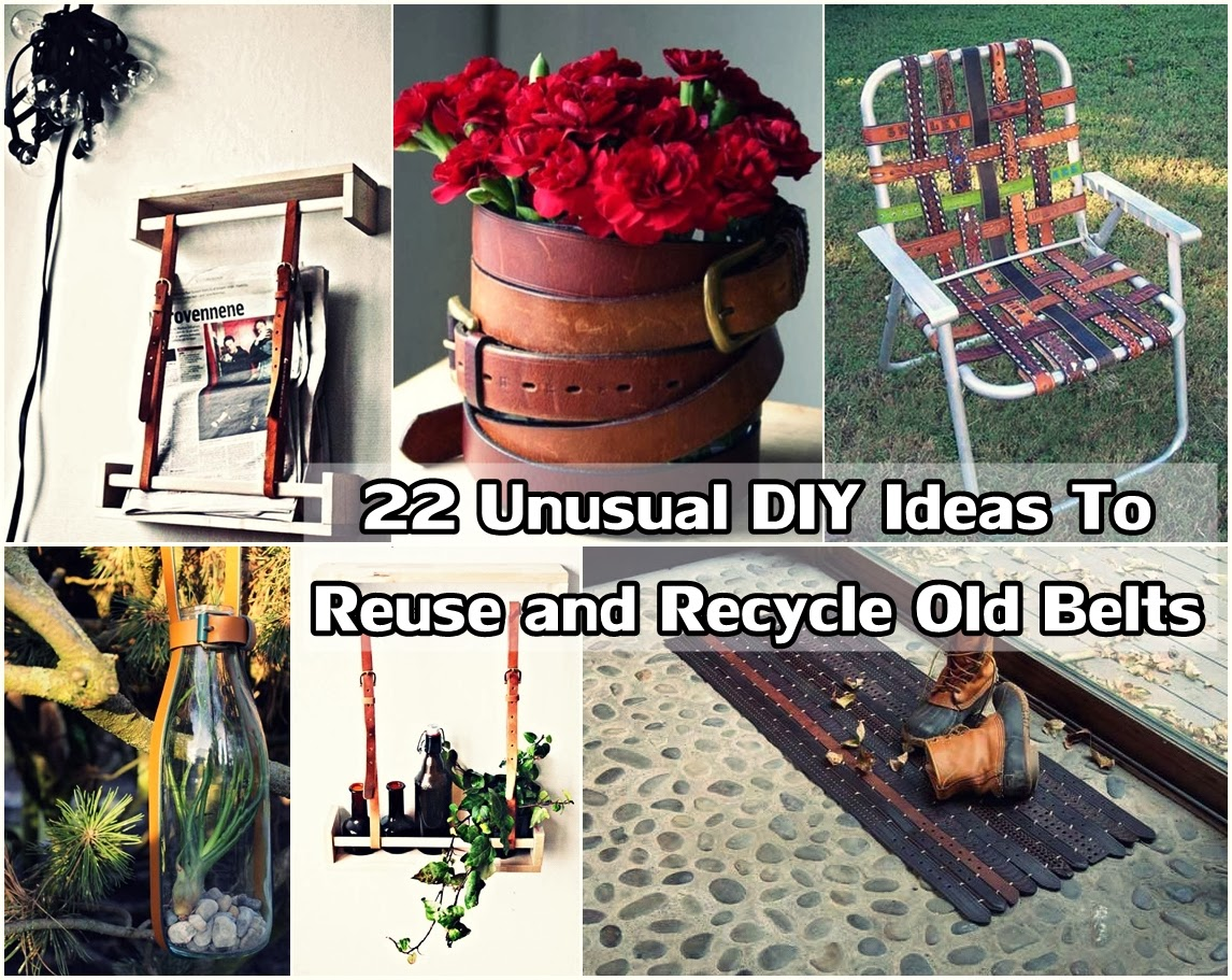 22 Unusual Diy Ideas To Reuse And Recycle Old Belts Diy
