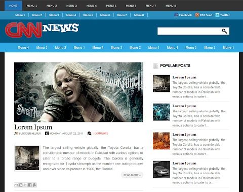 CNN News Blogger Theme