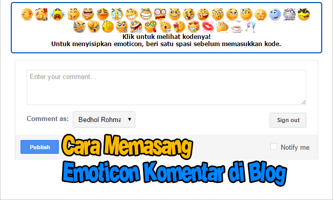 Cara Memasang Emoticon di Komentar Blog