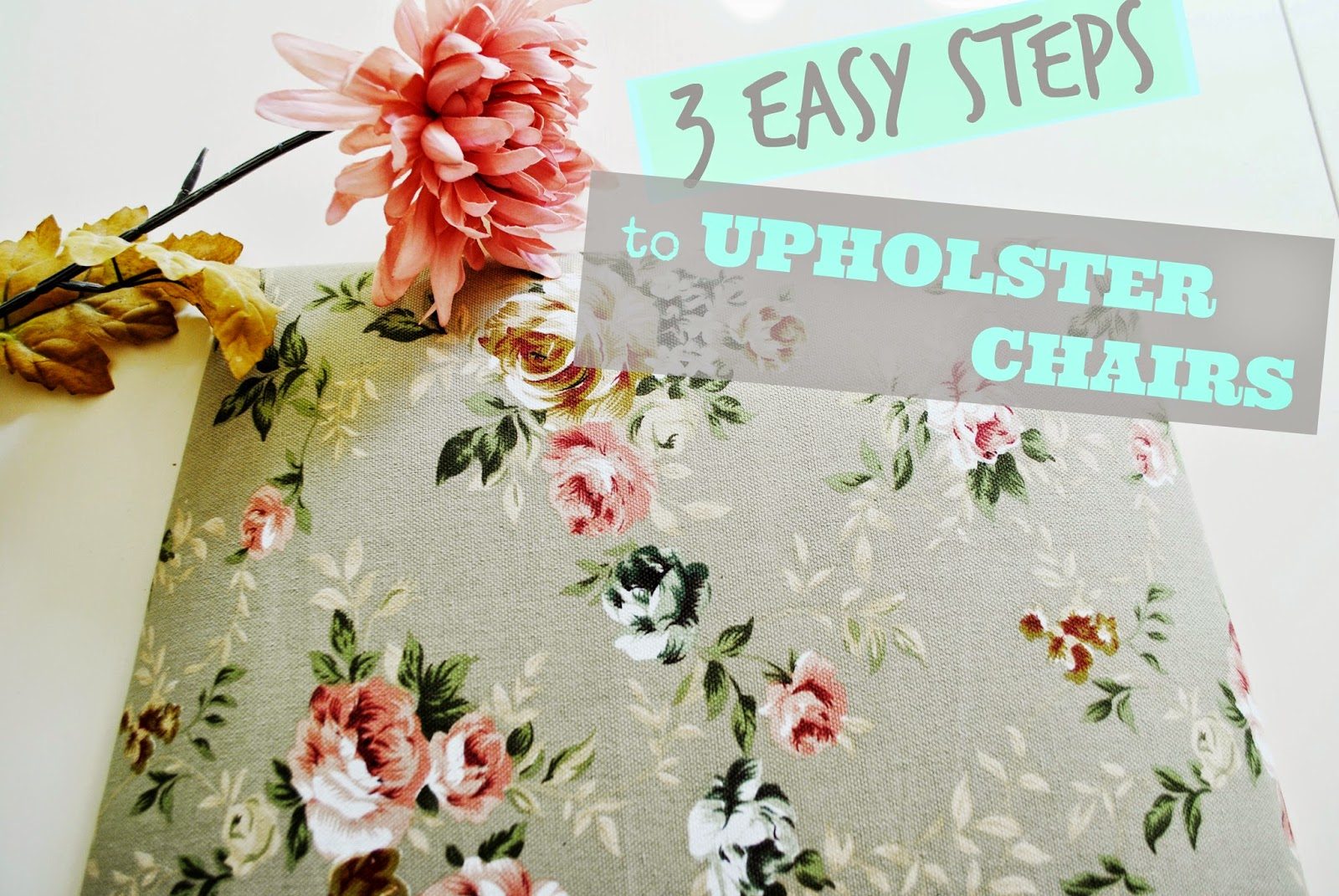 How to upholster a chair easily
