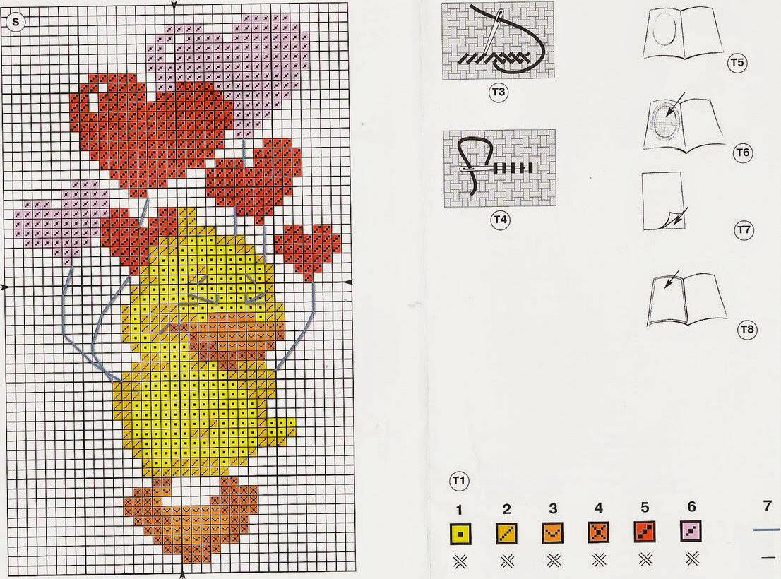 Вышивка крестом на открытках схемы