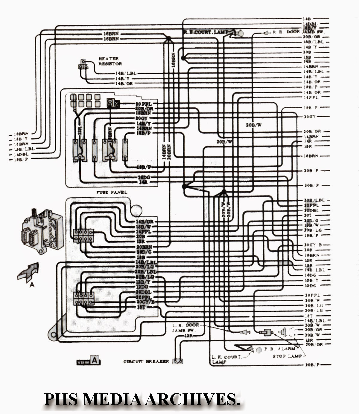 vette%2Bfuse%2Bblock tech series 1965 chevrolet corvette wiring diagrams, engine, fuse 65 corvette wiring diagram at soozxer.org