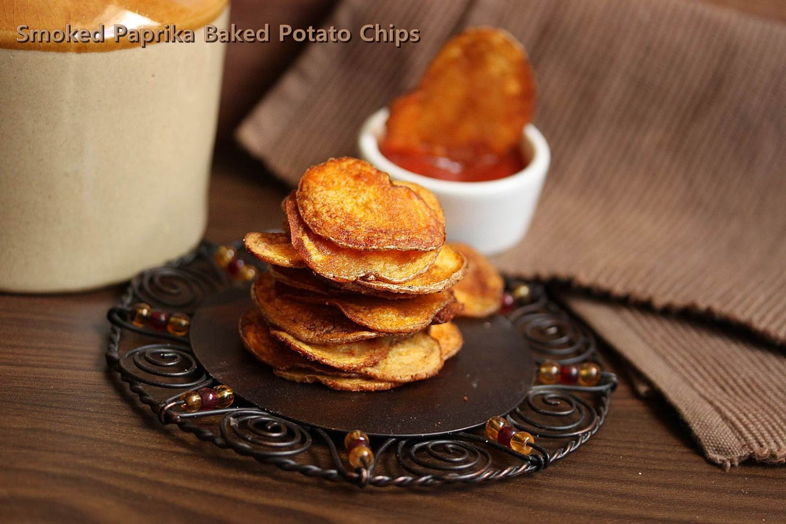 Smoked Paprika Potato Chips | Super Bowl Sunday Snacks| Baked Potato ...