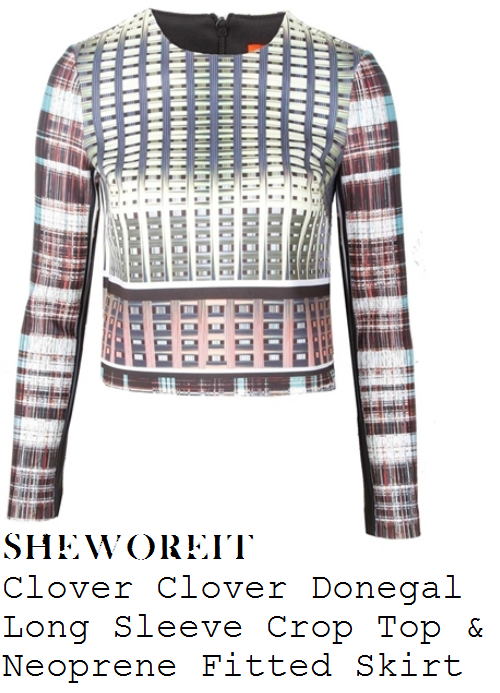 fleur-east-graphic-and-tartan-long-sleeve-crop-top-and-skirt-co-ords-x-factor