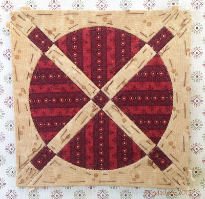 Dear Jane Quilt - Block G-7 Indianapolis