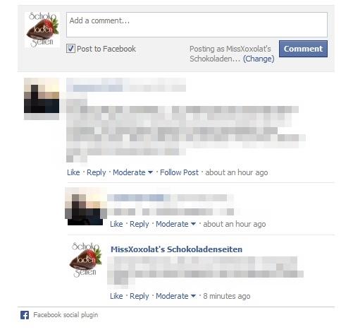 facebook Kommentare auf dem Blog