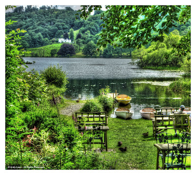 View over Grasmere lake, from Faeryland tea room
