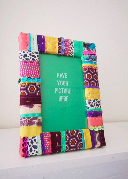 The art of up cycling diy picture frames fab funky for Fabric picture frames