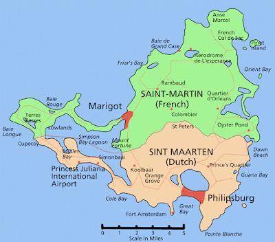 Saint Martin Island Map