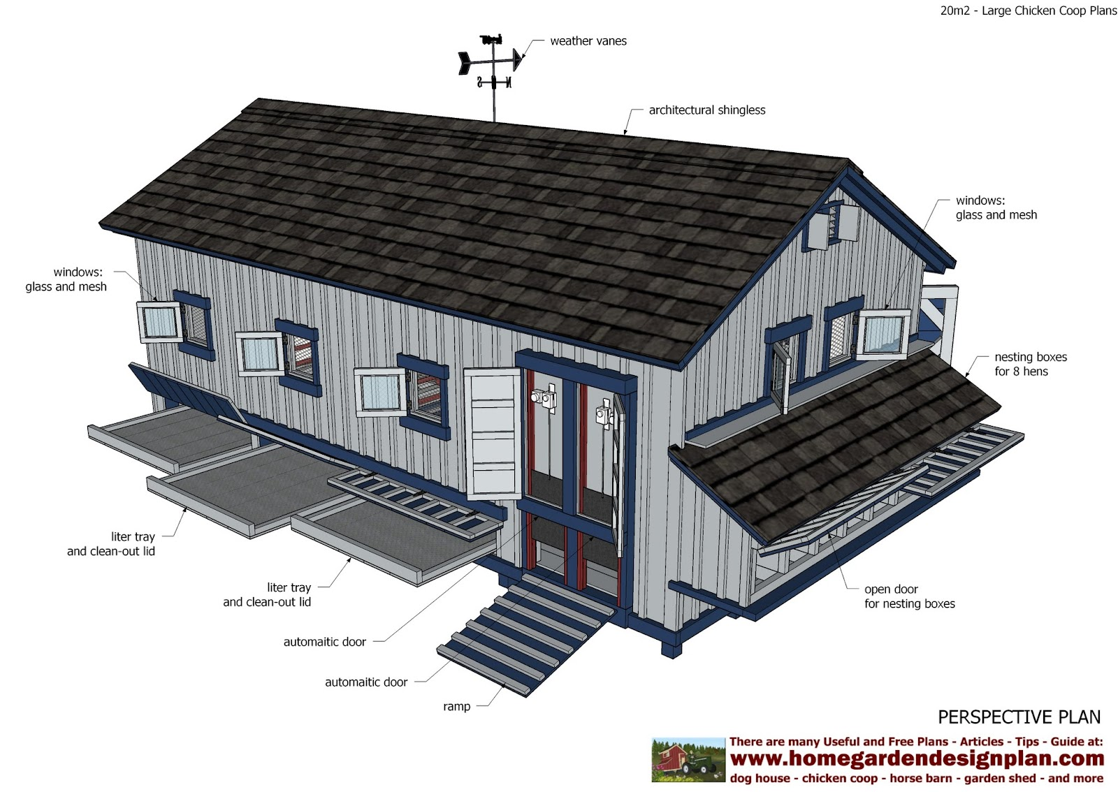Coop chikens information large chicken coop plans for Large chicken house