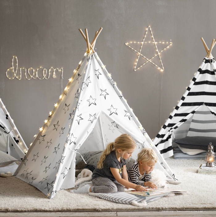 restoration hardware baby&child furniture teepee with stars
