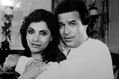 Dimple Kapadia donning a nosering in a pic with Rajesh Khanna