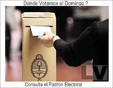 DONDE VOTAMOS EL DOMINGO?